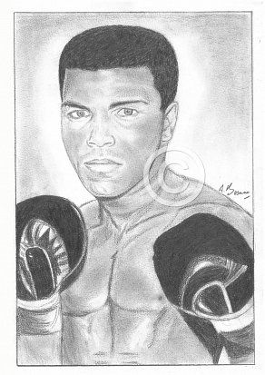 Muhammad Ali Pencil Portrait