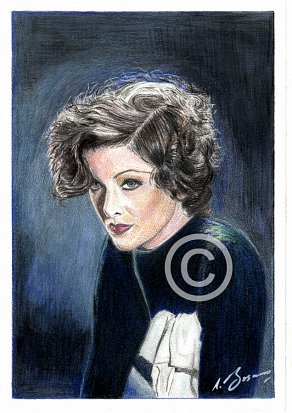 Myrna Loy Pencil Portrait