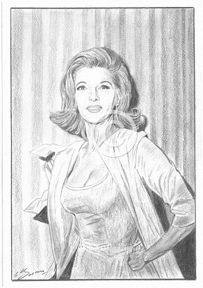 Nancy Kovack Pencil Portrait