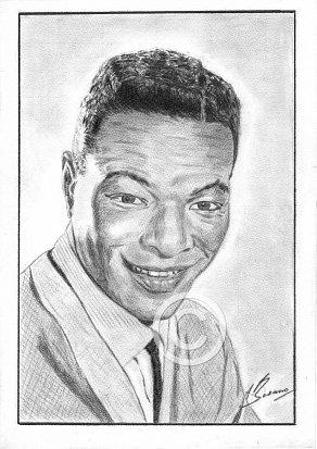 Nat King Cole Pencil Portrait