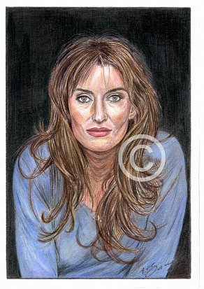 Natasha McElhone Pencil Portrait