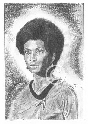 Nichele Nichols Pencil Portrait