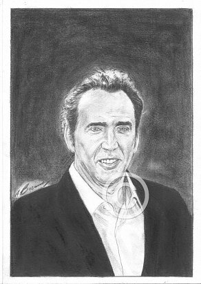 Nicholas Cage Pencil Portrait