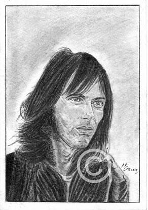 Nicky Hopkins Pencil Portrait