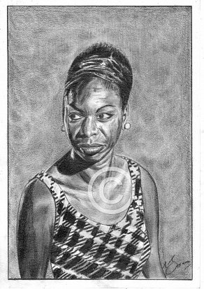 Nina Simone Pencil Portrait