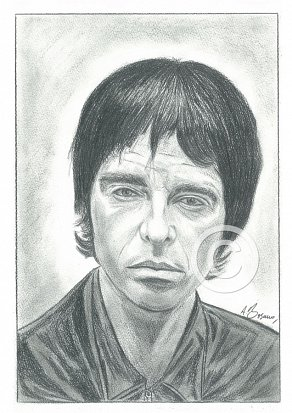 Noel Gallagher Pencil Portrait