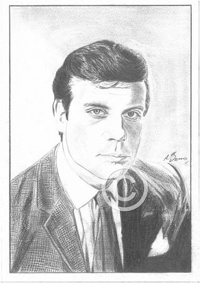 Oliver Reed Pencil Portrait