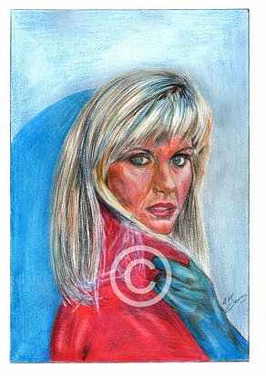 Olivia Newton John Pencil Portrait