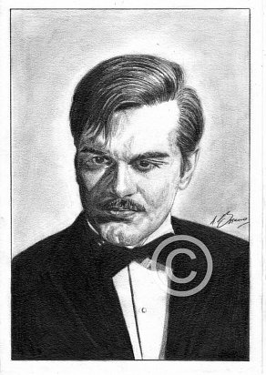 Omar Sharif Pencil Portrait