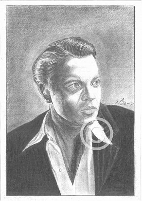 Orson Welles Pencil Portrait
