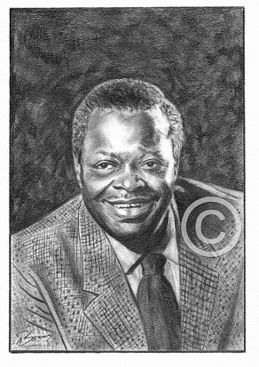Oscar Peterson Pencil Portrait