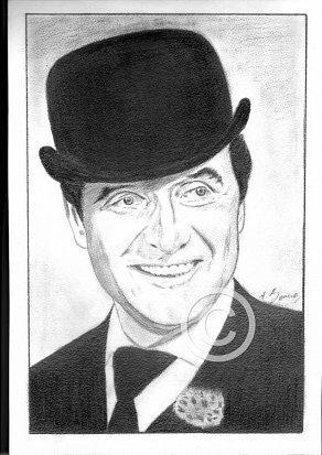 Patrick Macnee Pencil Portrait