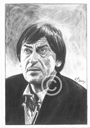 Patrick Troughton Pencil Portrait
