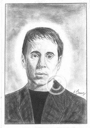 Paul Simon Pencil Portrait