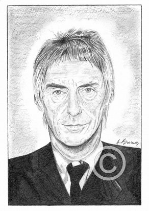Paul Weller Pencil Portrait