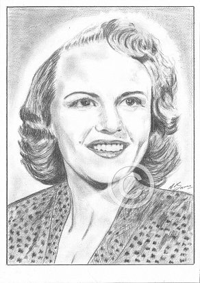 Peggy Lee Pencil Portrait
