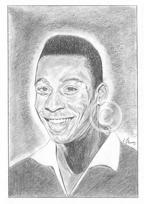 Pele Pencil Portrait