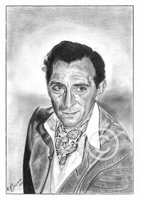 Peter Cushing Pencil Portrait