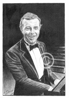 Peter Skellern Pencil Portrait
