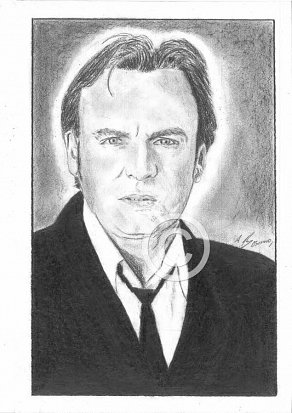Philip Glenister Pencil Portrait