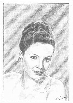 Phyllis Calvert Pencil Portrait