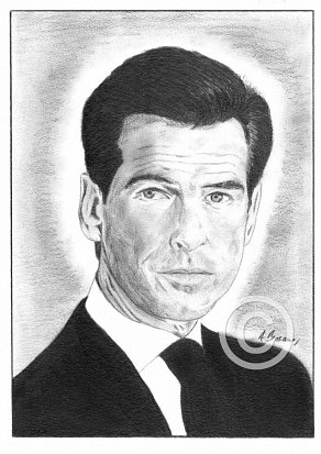 Pierce Brosnan Pencil Portrait
