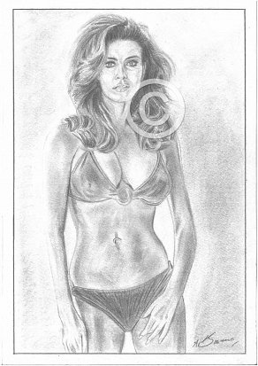 Racquel Welch Pencil Portrait