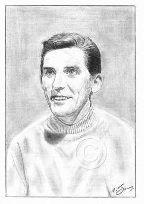 Ray Barrett Pencil Portrait