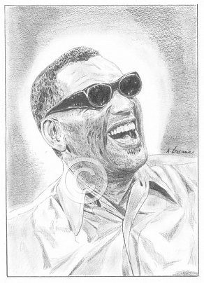 Ray Charles Pencil Portrait