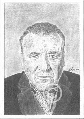 Ray Winstone Pencil Portrait