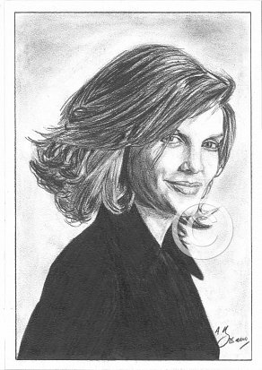Rene Russo Pencil Portrait