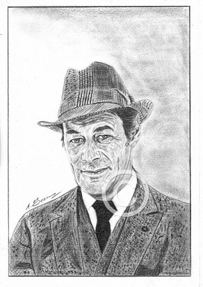 Rex Harrison Pencil Portrait
