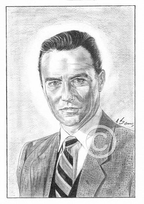 Richard Todd Pencil Portrait