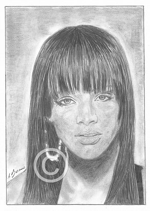 Rihanna Pencil Portrait