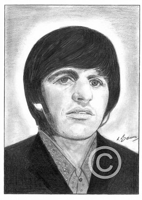 Ringo Starr Pencil Portrait