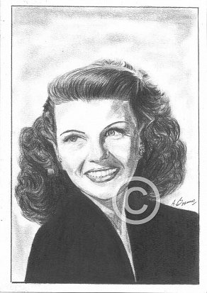 Rita Hayworth Pencil Portrait
