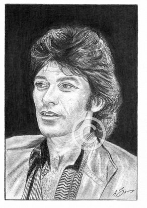 Robbie Robertson Pencil Portrait