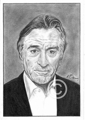 Robert De Niro Pencil Portrait