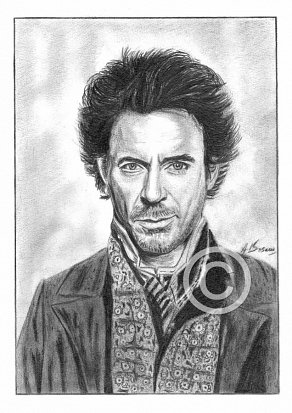 Robert Downey Jnr Pencil Portrait