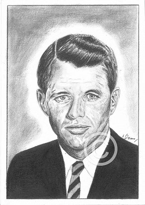 Robert Kennedy Pencil Portrait