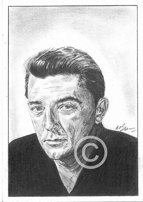 Robert Mitchum Pencil Portrait