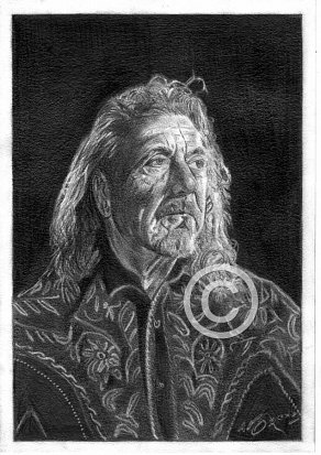 Robert Plant Pencil Portrait