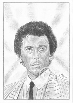 Robert Powell Pencil Portrait