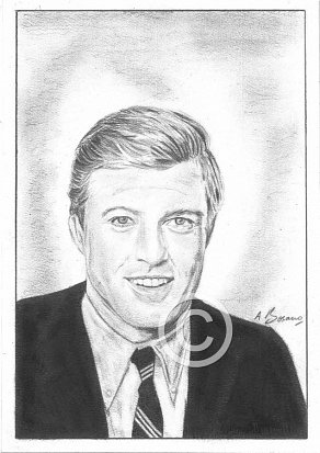 Robert Redford Pencil Portrait