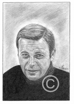 Robert Wagner Pencil Portrait