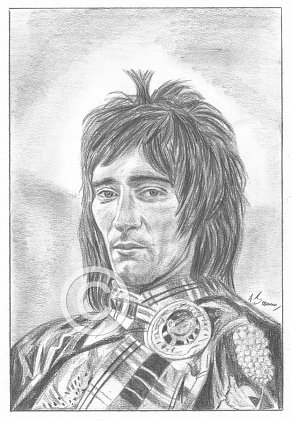 Rod Stewart Pencil Portrait