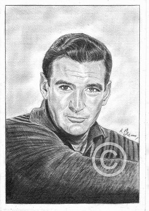 Rod Taylor Pencil Portrait