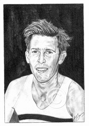 Roger Bannister Pencil Portrait