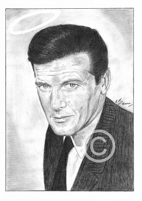 Roger Moore Pencil Portrait