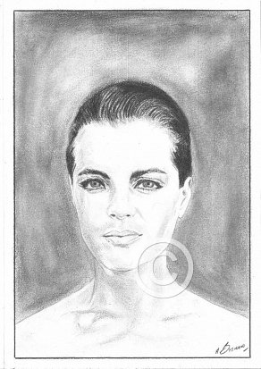 Romy Sneider Pencil Portrait